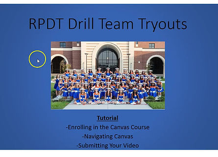 Drill Team Tryout Canvas Tutorial