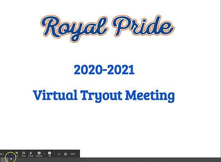 2020-2021 Virtual Tryout Meeting