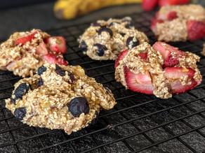 Healthy Vegan Berry Muffin Tops