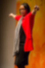 Cynt in Red Jacket POWER PIC2.JPG