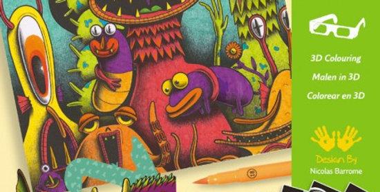 Coffret coloriage 3D Funny freaks
