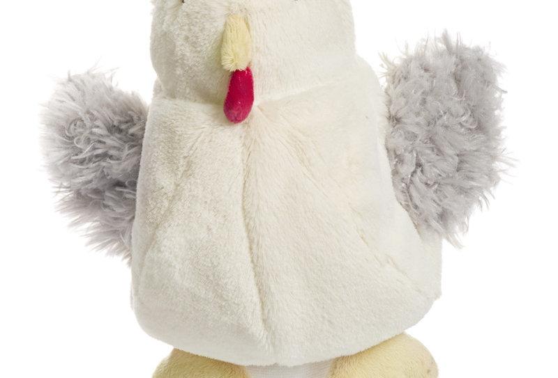 Marionnette poule blanche
