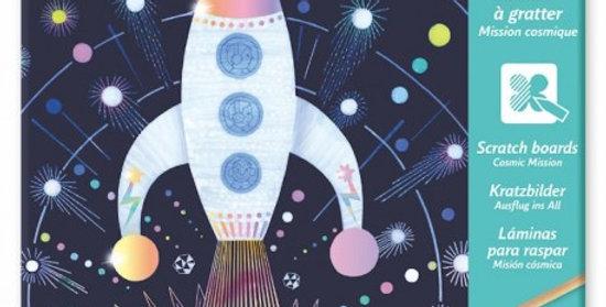 Carte à gratter mission cosmique