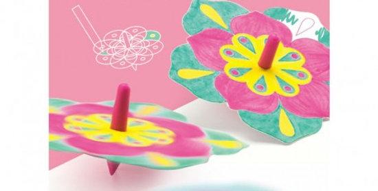 Toupies à colorier Fleurs