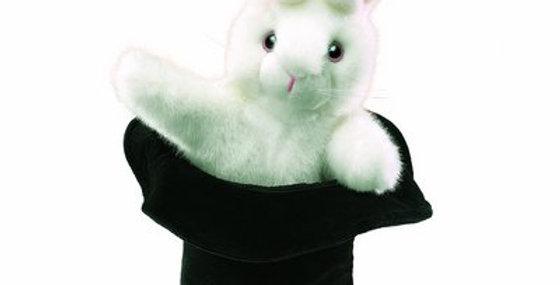 Marionnette grand lapin en chapeau