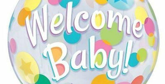 Ballon Welcome baby latex