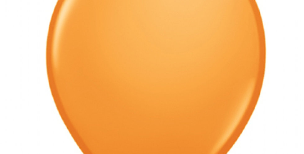50 ballons latex orange