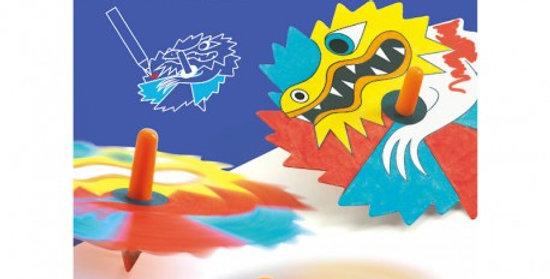 Toupies à colorier Dragons