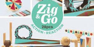 Zig & go 28 pièces construction, imagination, réflexion