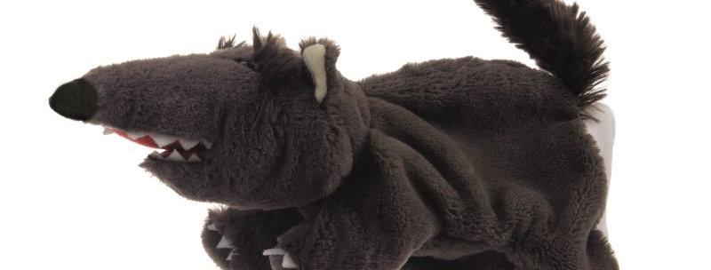 Marionnette loup noir