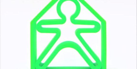 Bonhomme et maison en silicone vert