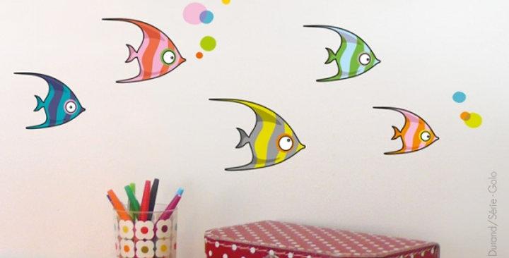 Sticker poissons tropicaux