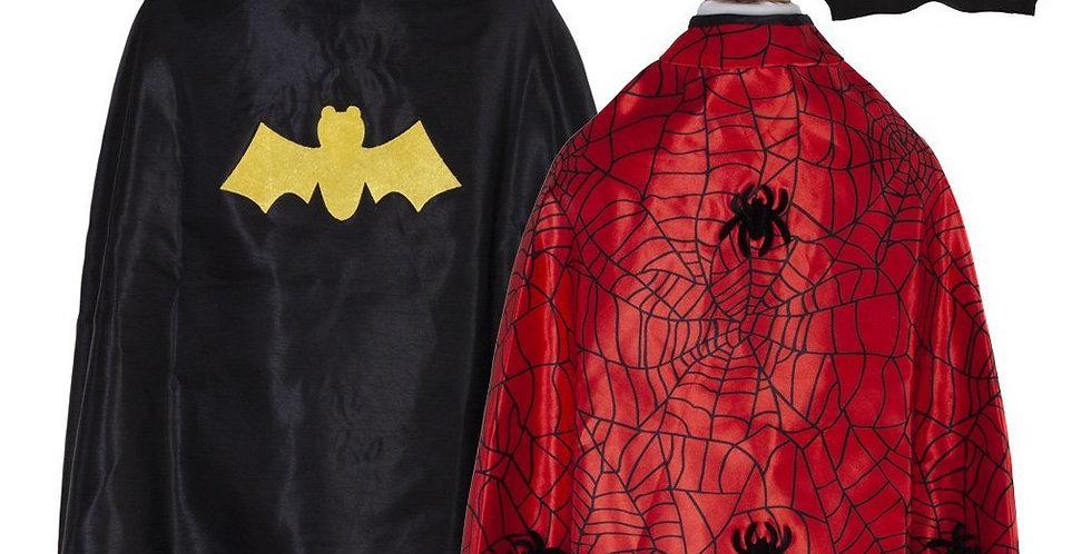 Cape réversible spiderman/batman