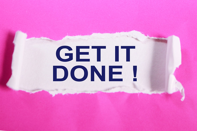 Get it Done. Motivational inspirational