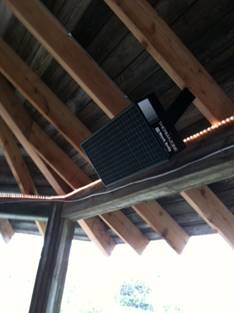 Black Body Infrared Patio Heater
