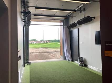 Black Body Infrared Heater Golf Driving Range