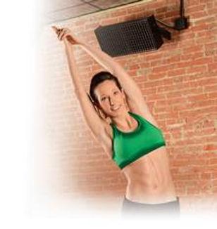 Hot yoga studio infrared heater installed