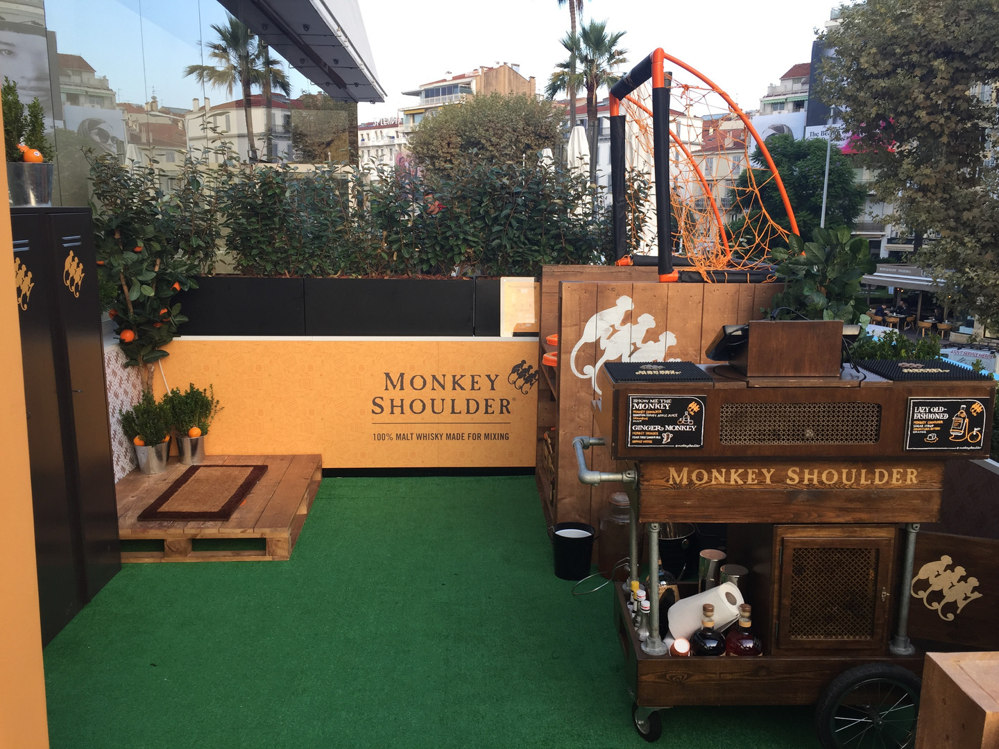 Monkey Shoulder Terrace for William Grant & Sons, Cannes.