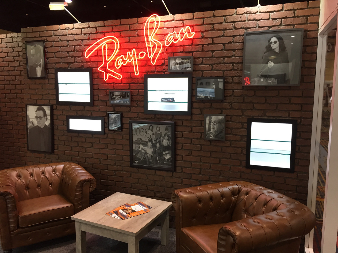 Interior shot of RayBan Area on the Luxottica stand.