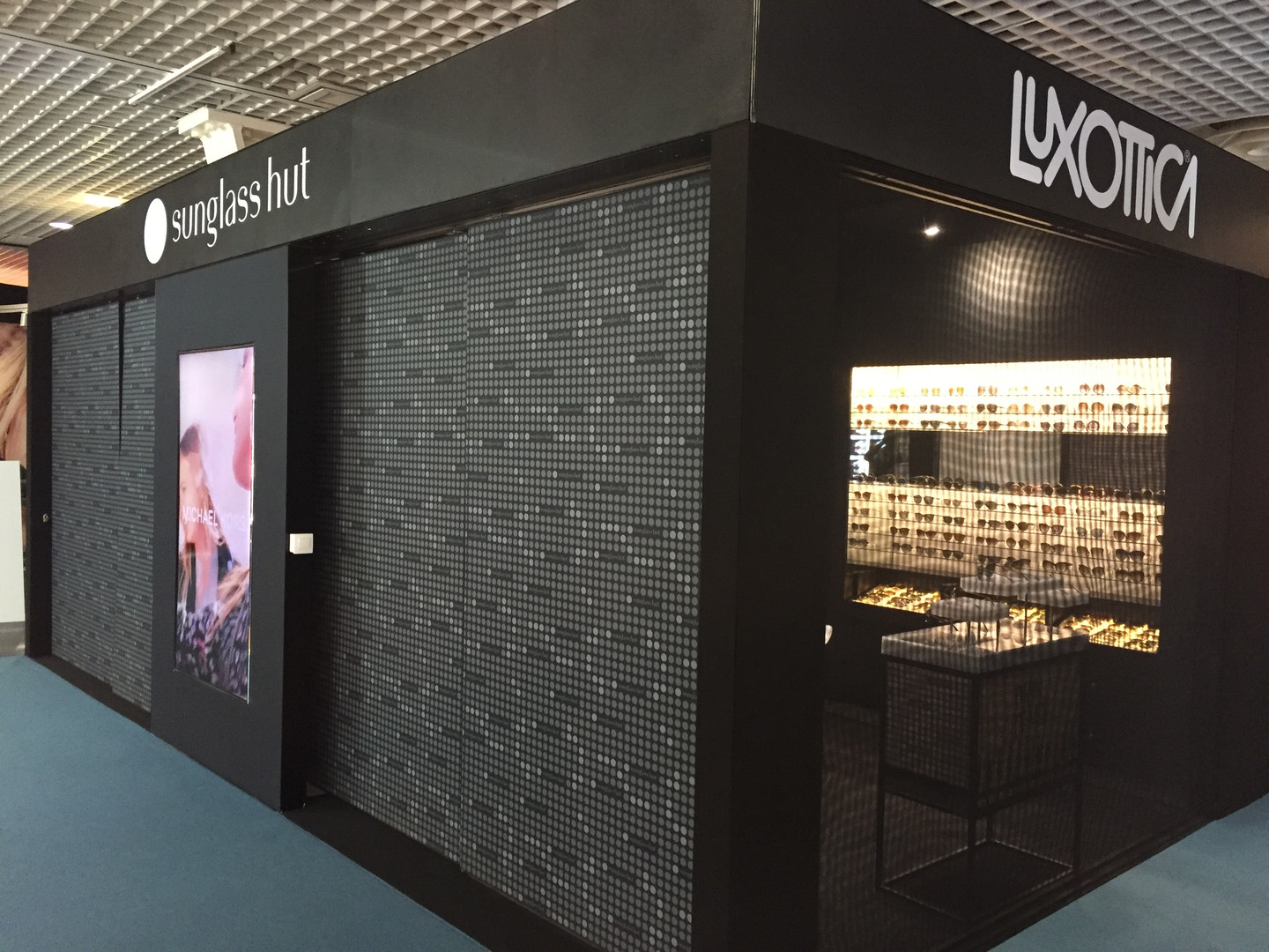 Exterior of Luxottica / Sunglass Hut stand in Cannes