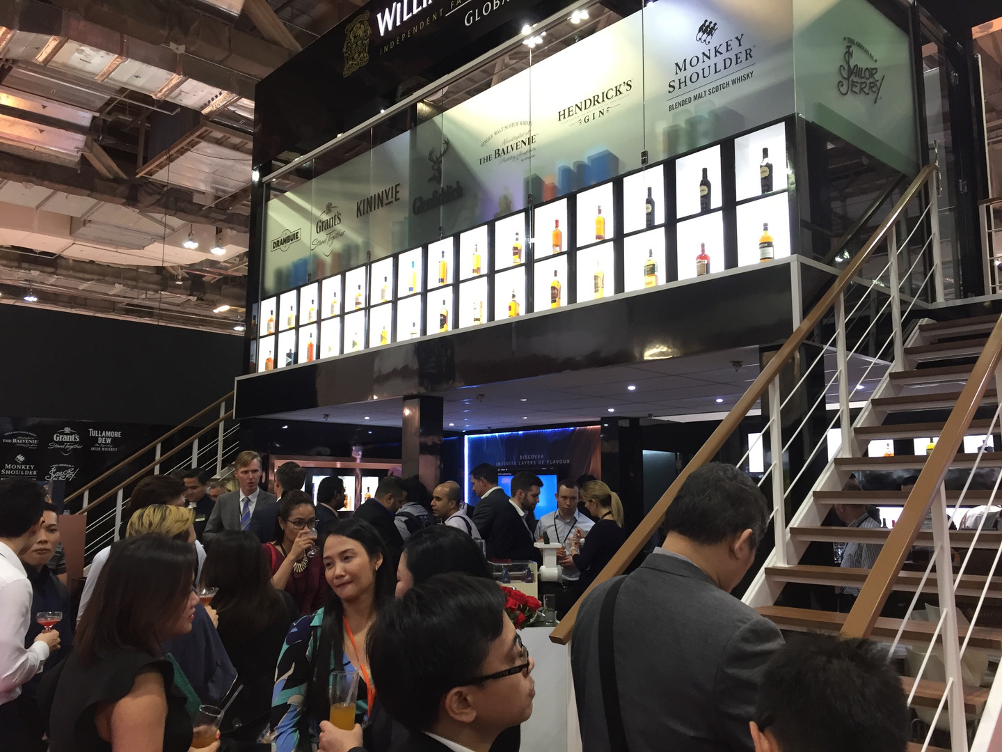 Busy stand in Singapore