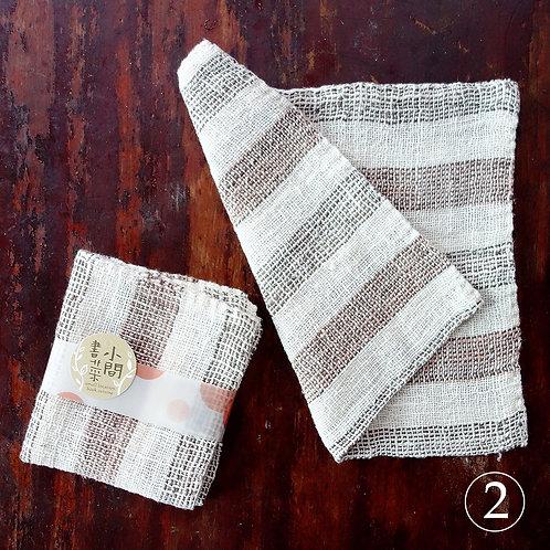 寮國雙面純棉手工厚帕-條紋系