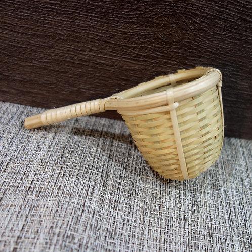 寮國天然單柄竹茶漏