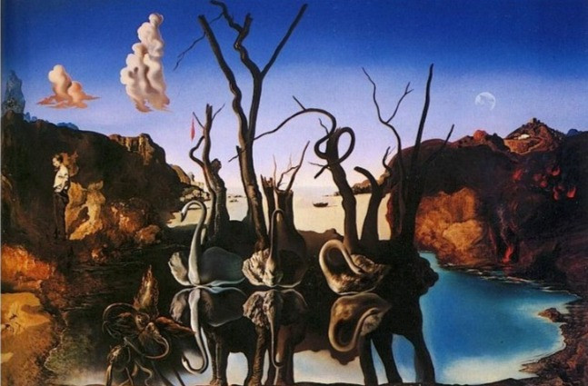 Reproduction of Surrealist  Art - Oil on Canvas