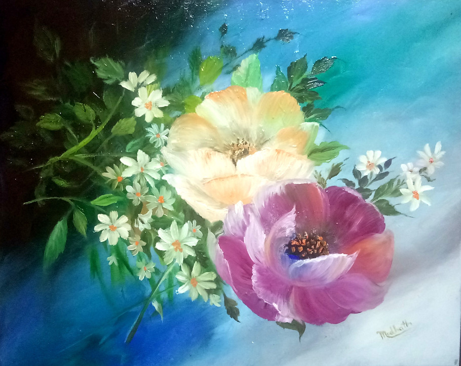 Floral Art Oil Painting