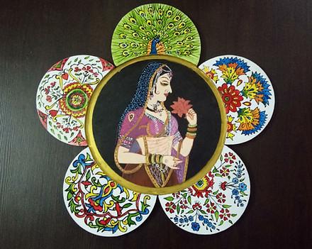 Mughal Art on Wood