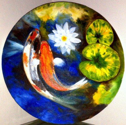 Koi Fish - Oil on Canvas
