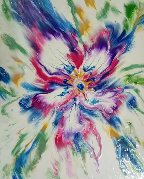 Acrylic Abstract on Canvas - Acrylic Pour