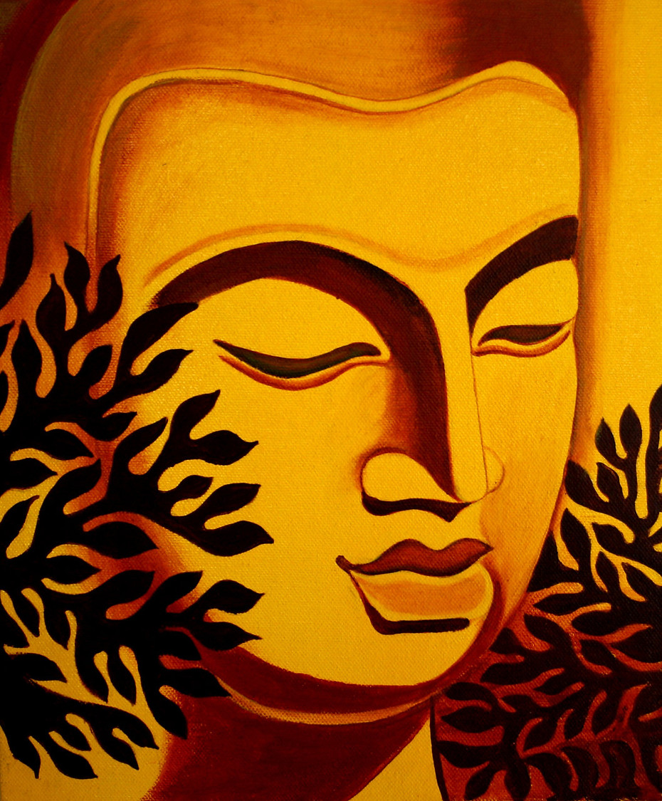 Acrylic Abstract on Canvas - Buddha