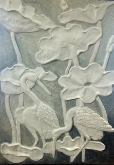 3D Clay Art on Wood