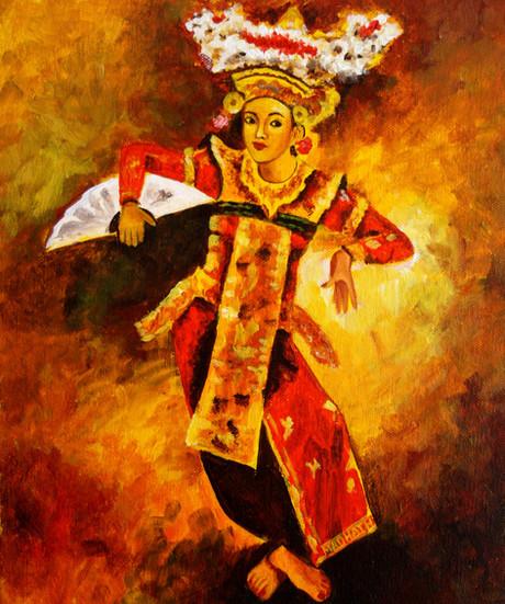 Acrylic on Canvas - Indonesian Dancer