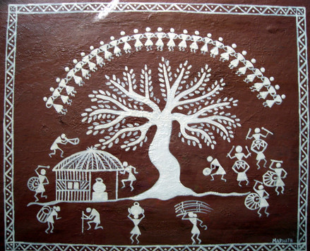 Warli Art on Canvas