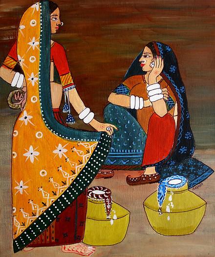 Tribal Art on Canvas