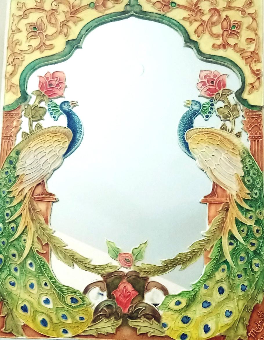 Relief Art on Mirror