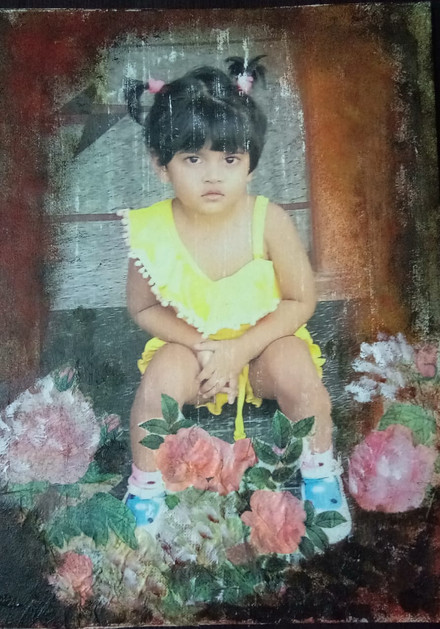 Photo Transfer on Canvas with Découpage