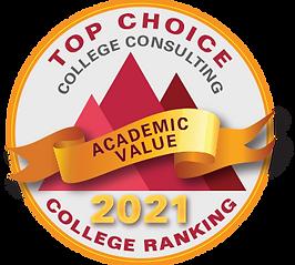 Top Choice academic value rankings 2021