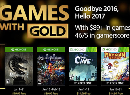 Games With Gold Free Games for January on Xbox