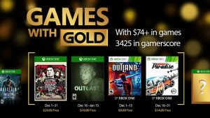 Games With Gold Free Games for December on Xbox