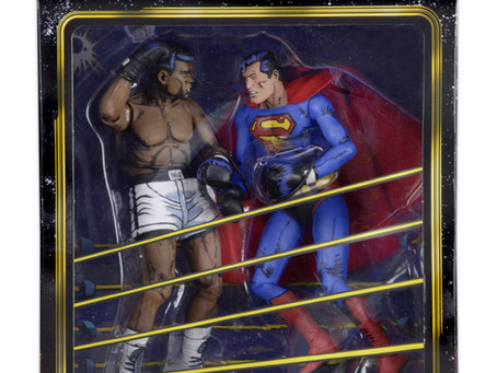 Superman vs. Muhammad Ali Collectible Action Figure Set This Month from NECA
