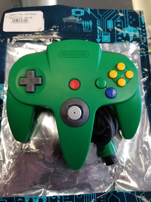 N64 Original Controller (Solid Green)