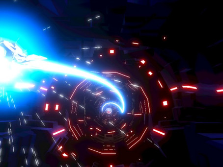 High-Speed Sci-fi shooting action with immersive music elements equals awesome!