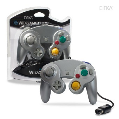 Wired Controller for Wii®/ GameCube® (Silver) - CirKa