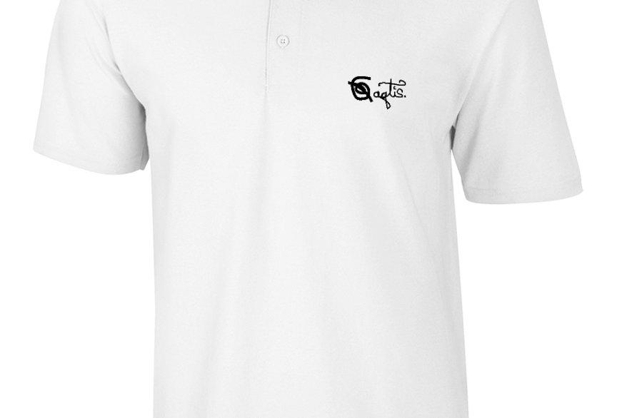 Mens Custom Polo - White