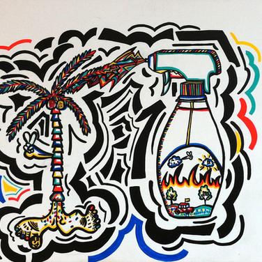 Spray Bottle Palm Tree