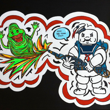 Slimer and Puft
