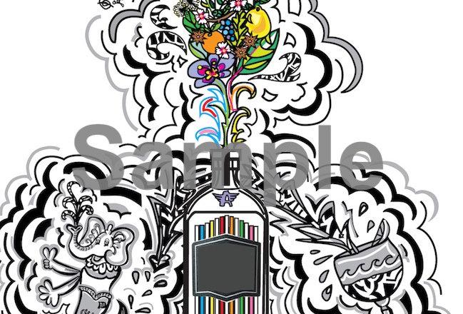 A Sip of Spirited Creativity - Art Print